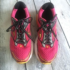 Brooks Ghost 7 Running Shoes Pink and Orange